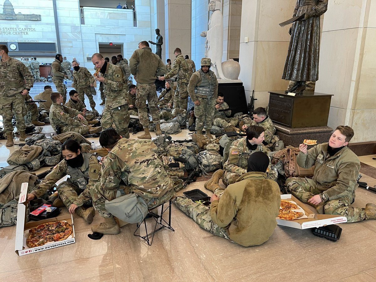 Replying to @igorbobic: Reps Michael Waltz and Vicky Hartzler handing out We The Pizza to some troops