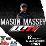 Congrats, @Mason_Massey! Go get 'em this year in that No. 99 for @TeamBJMcLeod!