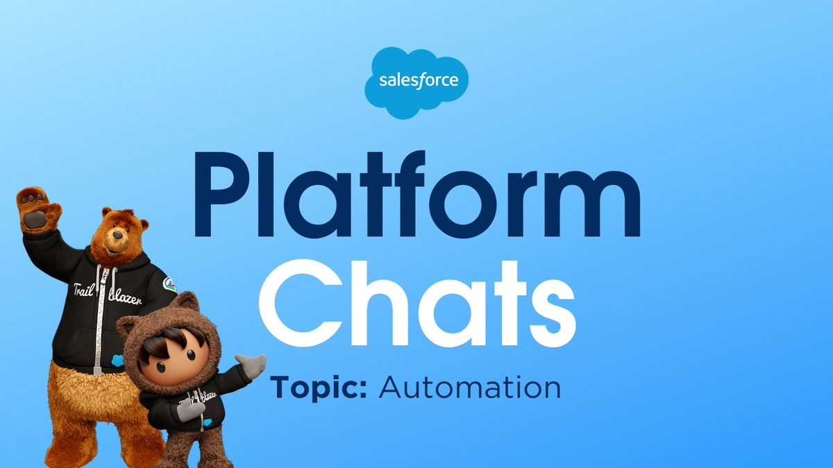 Join us tomorrow right here at 10:30AM PT/1:30PM ET for our next #PlatformChats! The topic is #Automation 👩‍🔬 👨‍🔬 and we can't wait to hear your thoughts! Tune in live tomorrow - we're excited to chat with you! ⚡️