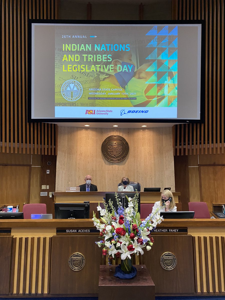 We are honored to host the 26th Annual Indian Nations and Tribes Legislative Day.   This year we are holding the Joint Protocol Session virtually, and you can watch LIVE here ⤵️   #AZSenate #AZHouse