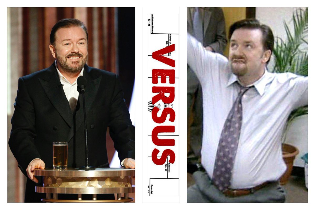 🏆🏆🏆#CHAMPIONSHIP 🏆🏆🏆  Which Ricky Gervais is the #greatest?  With help from our friend @jim73194352 we have created the #BestOfRickyGervais Tournament and only 2 remain!   #Vote in the #thread👇   Follow us for Brackets like this 24/7!