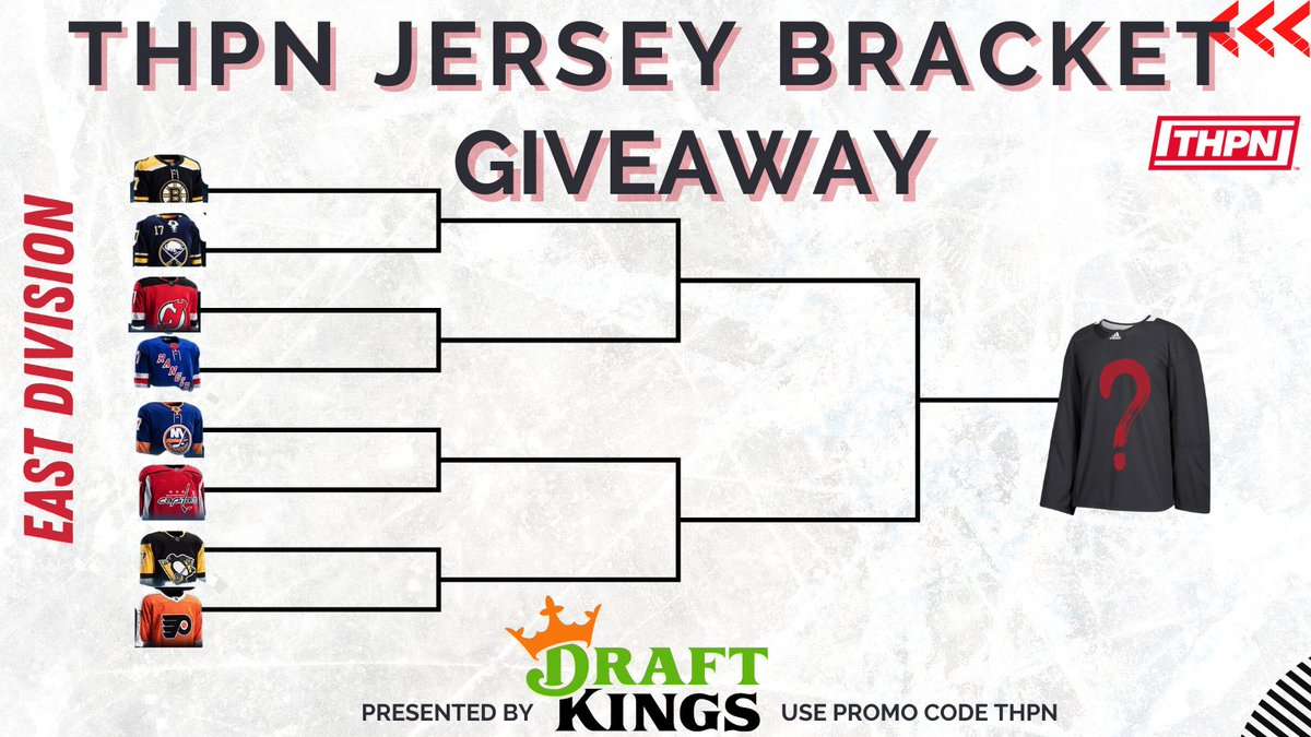🚨The NHL is Back🚨  To celebrate we are holding the #THPN Jersey Bracket Giveaway!  Comment & Share each round to be entered in the final draw🏒  The Prize: An Authentic Adidas Jersey  Presented by @DraftKings - Use promo code THPN at sign up  #HockeyTwitter #NHL #Bracket
