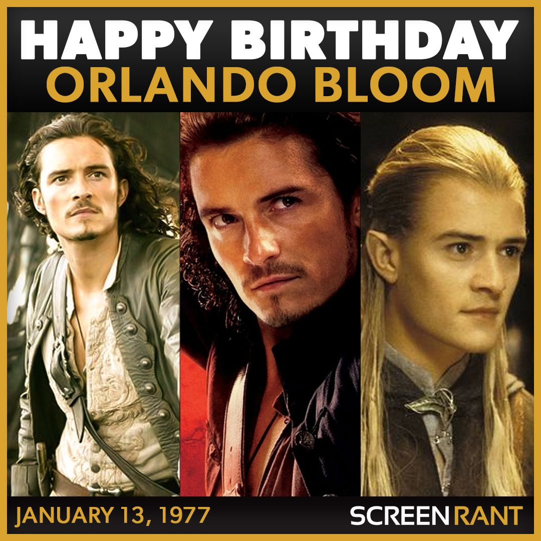 Happy Birthday to the one and only Orlando Bloom! Share some of your favorite roles with us.