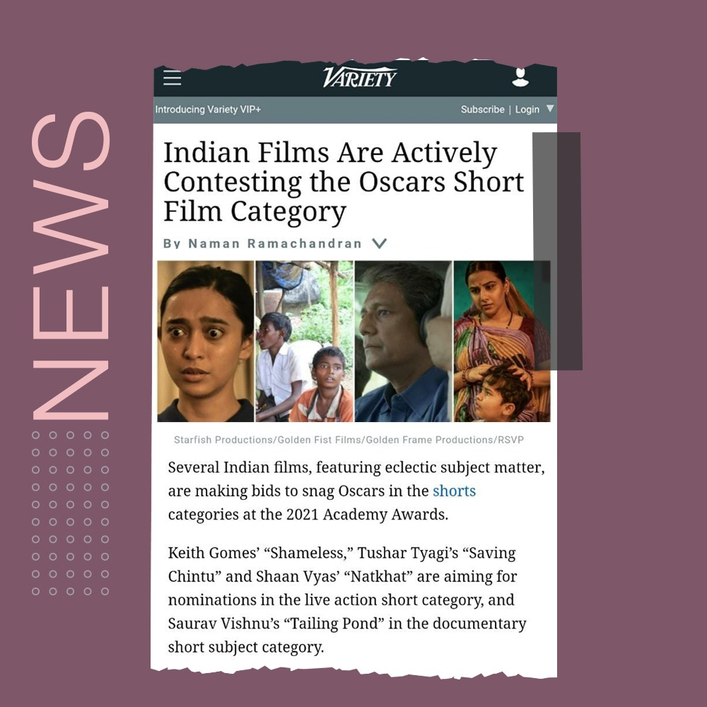 We love all of these amazing Indian filmmakers in the mix for the Academy Awards shorts category!  Wishing everyone the best of luck! Excited to see more content from emerging Indian filmmakers take the global front 🙌🏼