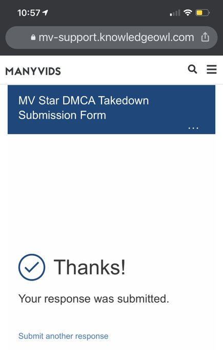 Testing out @ManyVids' DMCA takedown tool. Let's see if it actually works.  I sent over 10 URLs to be