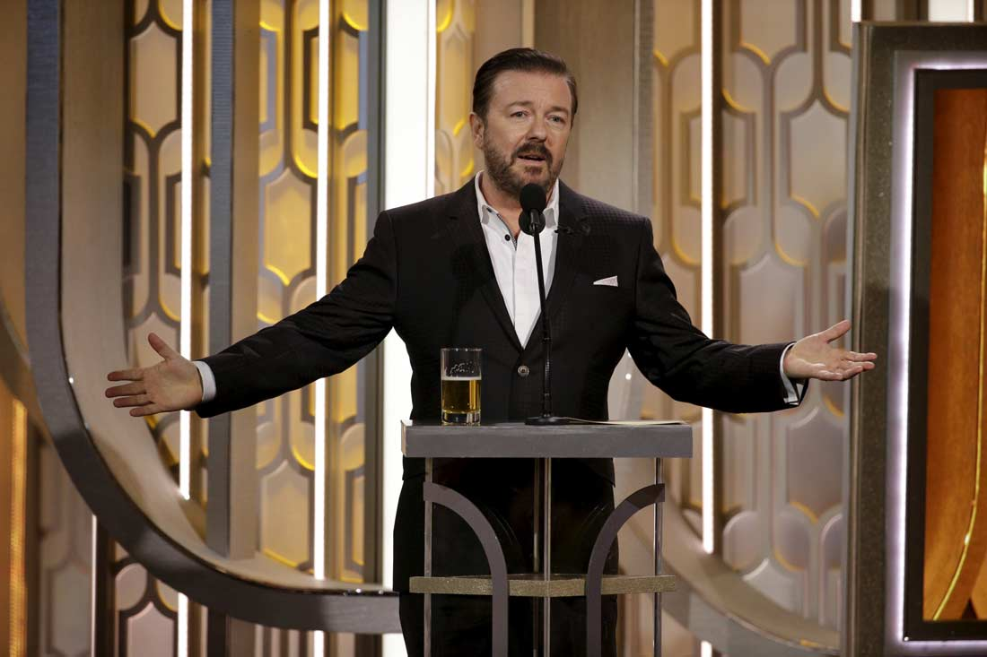 @BracketeersThe @rickygervais @rickygervais, is best ever in golden globe. Ricky Gervais is brilliant👍💎
