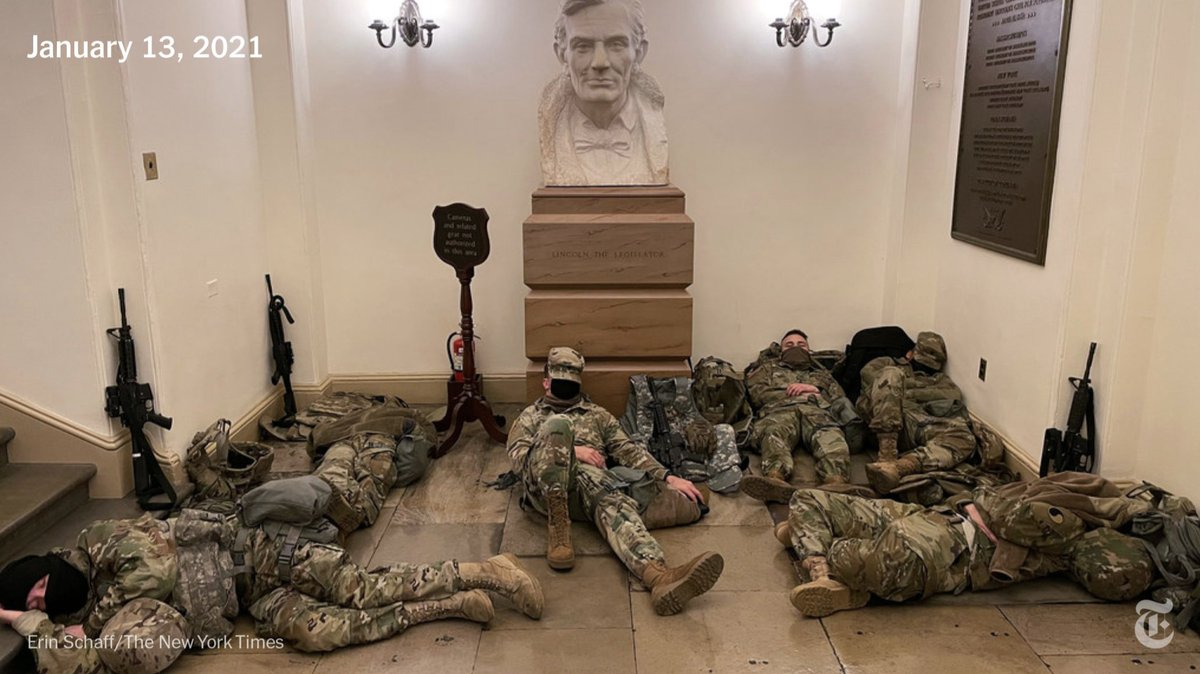 The last time troops bivouacked in the Capitol? 1861.