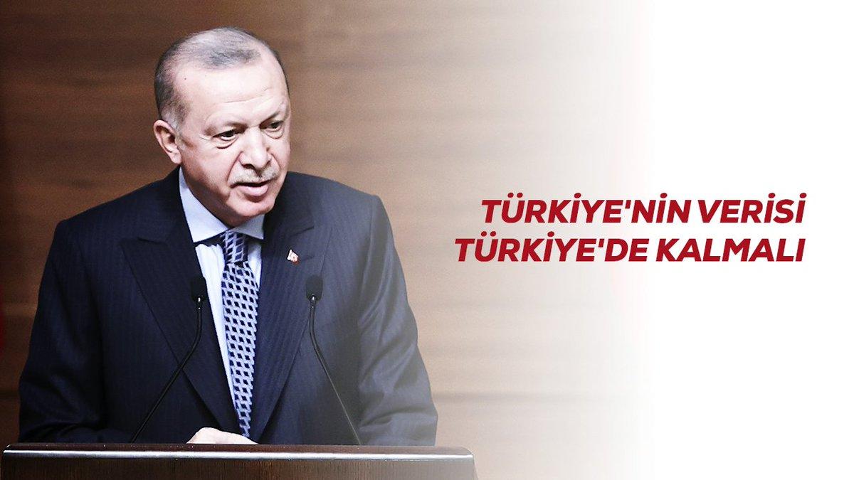Türkiye'nin verisi Türkiye'de kalmalı diyerek başlattığımız çalışmalarda önemli mesafe aldık.   İnşallah önümüzdeki dönemde bu alanda yerli ve millî altyapımızın gücünü arzu ettiğimiz seviyeye çıkartacağımıza inanıyorum.