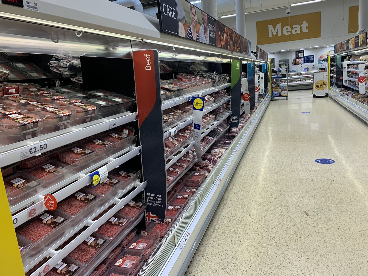 Good British meat fully stocked