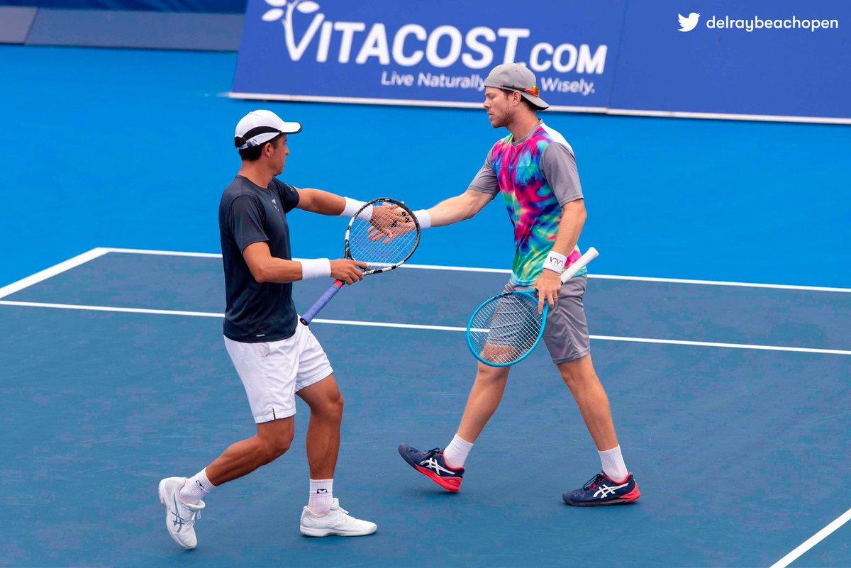 ¡CAMPEONES! Ariel Behar 🇺🇾 y @goescobar89 🇪🇨 consiguieron su primer título ATP al derrotar 6-7 (5), 7-6 (4) y 10-4 a los hermanos Ryan y Christian Harrison en #DelrayBeach. 🏆 https://t.co/roewzlj4oL