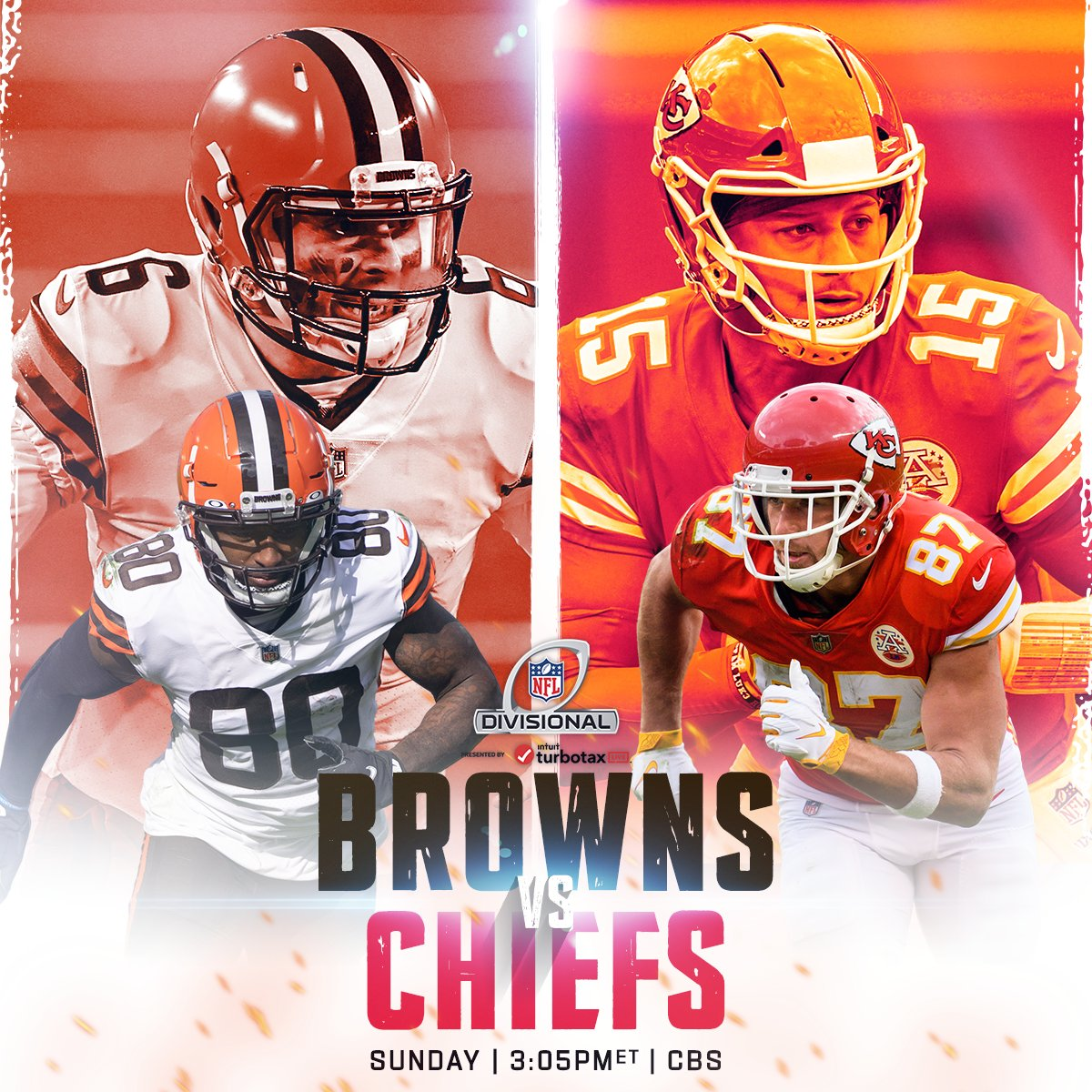 Baker & Jarvis or Mahomes & Kelce? #NFLPlayoffs   #WeWantMore | #RunItBack   📺: #CLEvsKC | Sunday 3:05pm ET on CBS 📱: NFL app // Yahoo Sports app