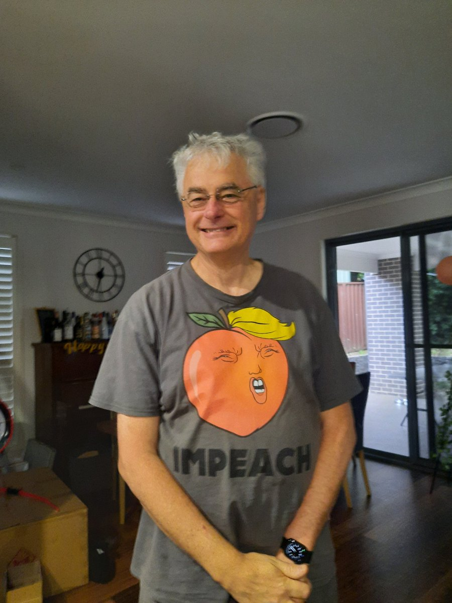 My Dad turned up to my house wearing this shirt today 😂😂😂 #ImpeachmentDay