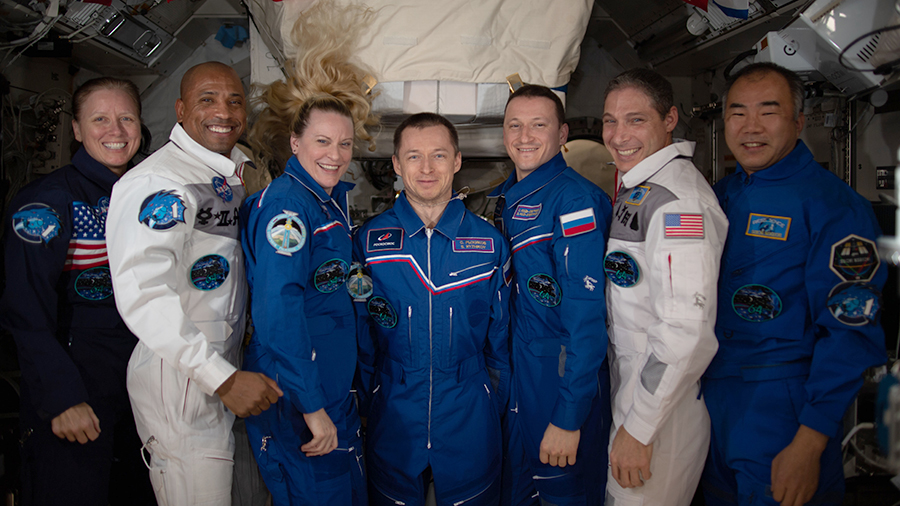 Five Exp 64 astronauts are relaxing today after sending off two U.S. cargo ships in less than one week. More... go.nasa.gov/2Ltzhh7