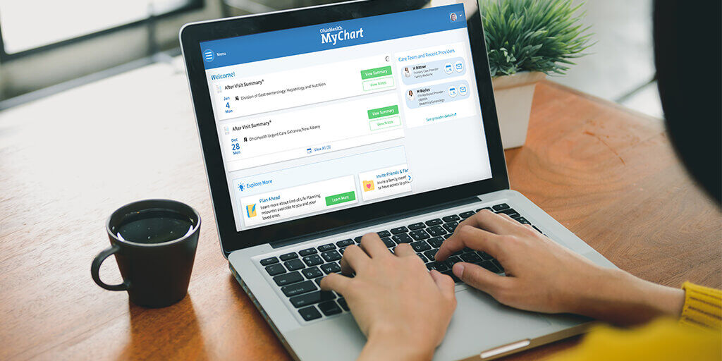 """Have a sec? Verify your contact info in OhioHealth MyChart (or sign up!) to help make scheduling your #COVID19vaccine quicker & easier once it's your turn. Caregivers to those who need help can set up proxy account access w/ the """"Share My Record"""" feature. https://t.co/kTrjIffQ57 https://t.co/z5QNVMnnru"""