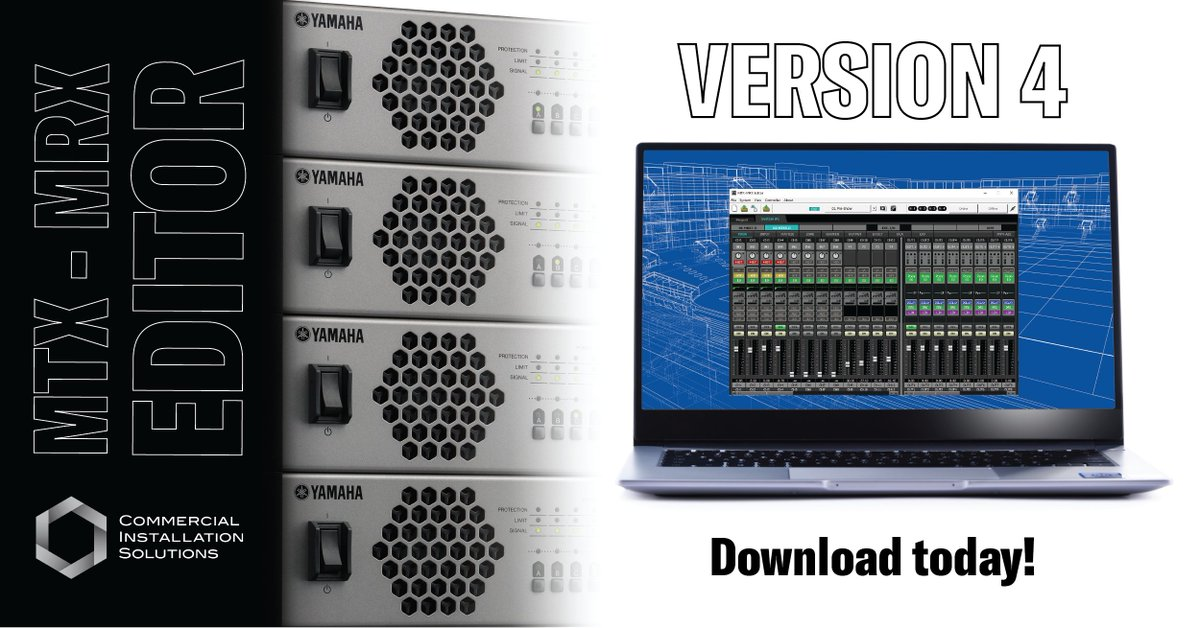 MTX-MRX Editor 4.0.1 and Version 4 firmware for MTX5/3 and MRX7 now available for Windows 10. #yamaha #Yamahacis   https://t.co/pLaQ3XdsZI https://t.co/PnrWHuiIvq