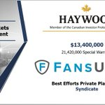 Image for the Tweet beginning: Haywood would like to congratulate