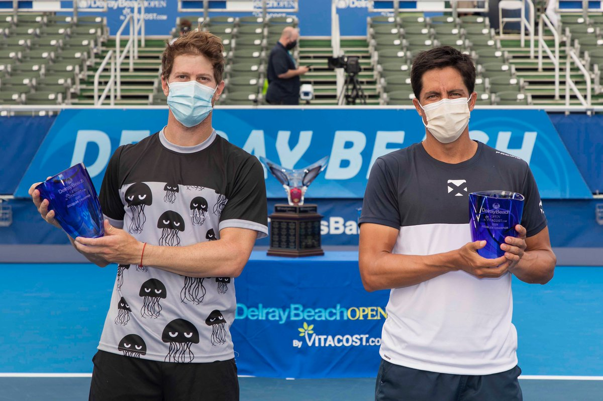 Replying to @DelrayBeachOpen: 🏆 #DBOpen DOUBLES CHAMPIONS 🏆  Congrats, Ariel Behar and Gonzalo Escobar!
