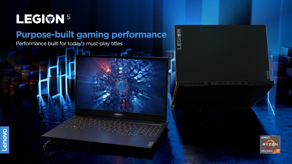 Equipped with elite @AMD Ryzen™ 5000 H-Series Mobile Processors and  NVIDIA® GeForce RTX™ graphics, bolstered by the Legion AI engine, the Legion 5 powers you to compete on equal footing with the pros. #PoweringTheImpossible #CES2021 #LenovoCES