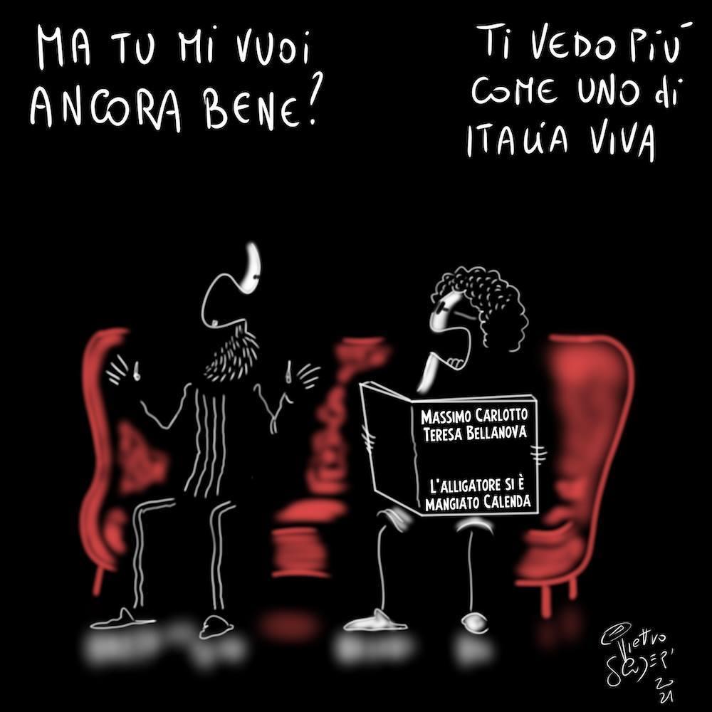 Anche se c'è pure chi ostinatamente se ne sottrae  Così Pietro Scuderi (@spacchiufo_)  #crisigoverno  #vignettistiperlacostituzione 🇮🇹