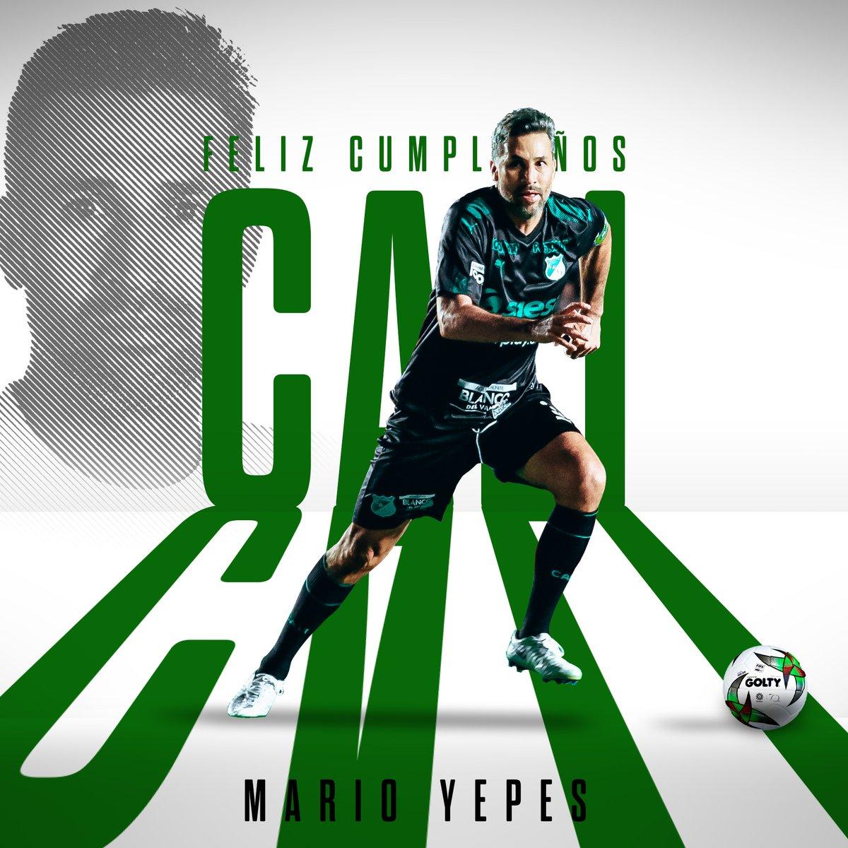🎂 Eterno capitán, ídolo del Deportivo Cali y de todo un país. ©️♾  ¡Feliz cumpleaños al gran @MarioAYepes! 🇳🇬🙌