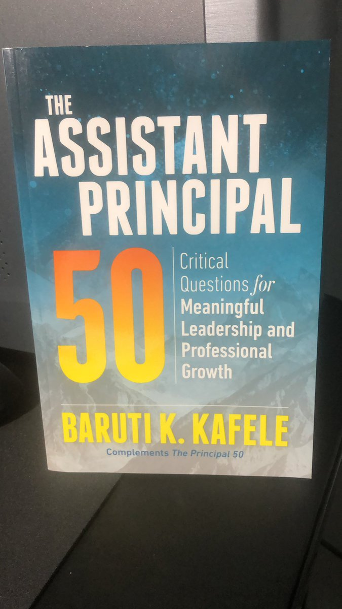 What are you currently reading and why? .@PrincipalKafele