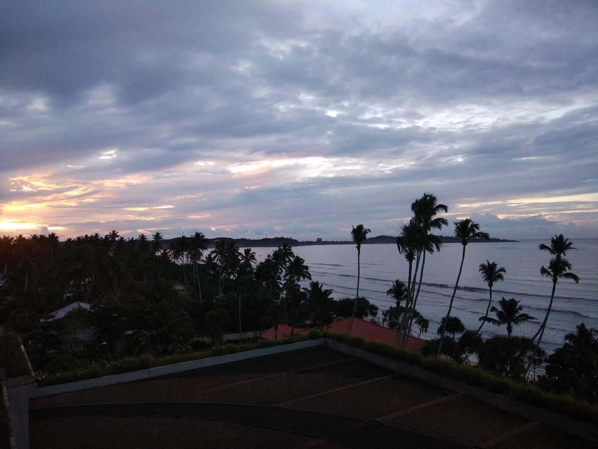 Sunrise & clear skies. Bring on #SLvENG #cricket