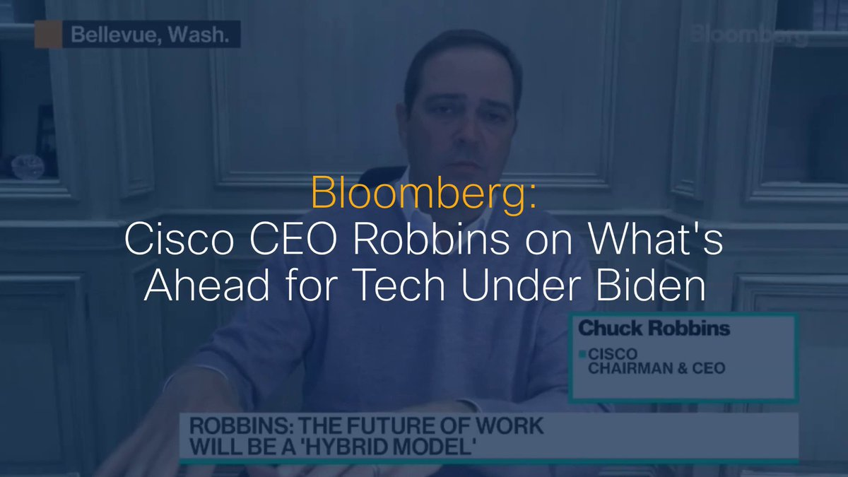 Cisco CEO @ChuckRobbins discusses the outlook for tech in 2021 and its involvement in an inclusive recovery. Watch:  Via @technology #5G