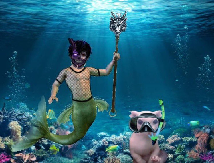 Watch out Ariel he's coming to steal your fame💃🏻#corpseunderthesea
