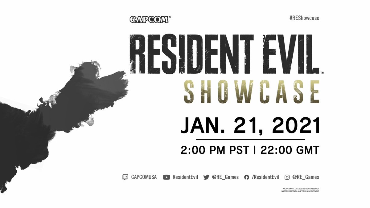 Don't miss the #REShowcase on January 21st at 2:00 PM Pacific! Join Resident Evil producers and our host, Brittney Brombacher (@BlondeNerd), on a guided tour of Resident Evil Village, including a new trailer, first-ever gameplay, and more Resident Evil news!