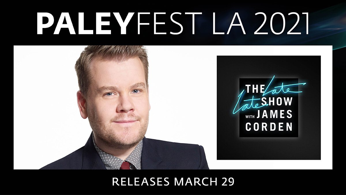 This isan event not to miss! #PaleyFest LA 2021 and @CBSTVStudios willbringyou laughs inconversation with Emmy Award-Winning Late Night Host James Corden @latelateshow,  #Thankyou to our official sponsors @Citibank and @Verizon.