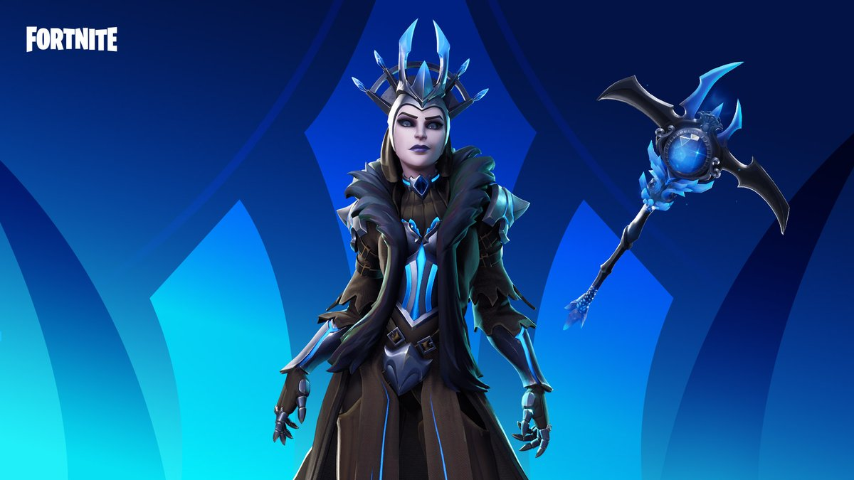 Here to live long and rule with an ice-cold clutch.  Grab the Ice Queen Outfit now!