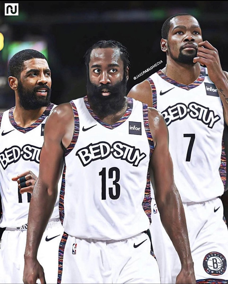 KEVIN DURANT. KYRIE IRVING. JAMES HARDEN.  Wow, wow, wow.