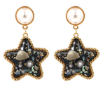 Image for the Tweet beginning: US$ 10.86 Bohemian Shell Star Earring