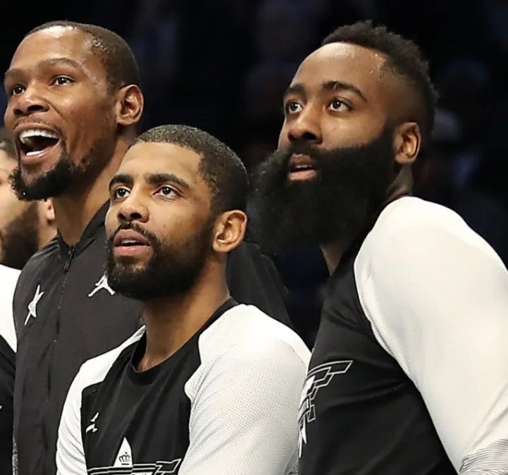 Replying to @TheHoopCentral: Kevin Durant, James Harden, Kyrie Irving  BIG 3. 🔥🔥