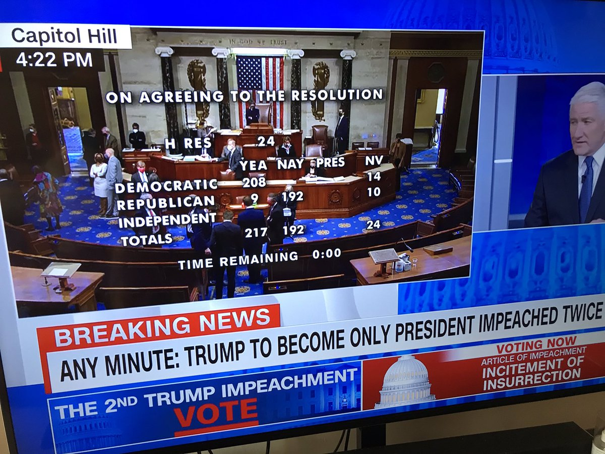#UnderPresidentTrump you will not share this historic image of his second impeachment. #ImpeachTrump