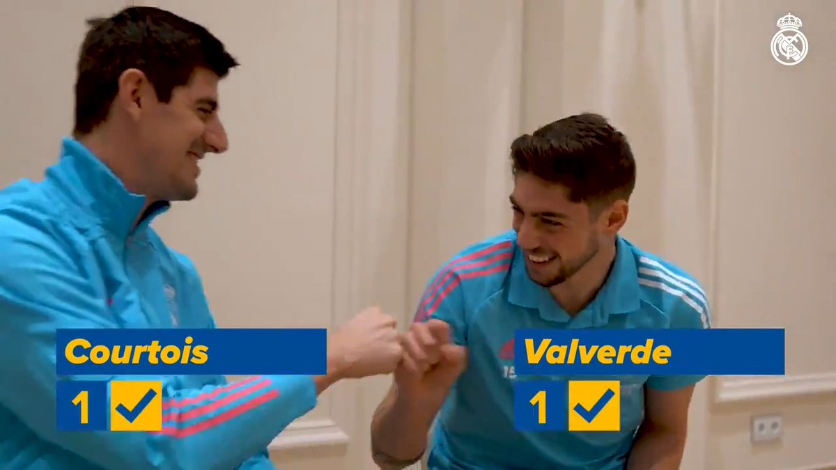 😎 ¡Primer capítulo de ''¿𝑪𝒖𝒂́𝒏𝒕𝒐 𝒔𝒂𝒃𝒆𝒔 𝒅𝒆...?''! 🆕 ¡Estrenamos con @thibautcourtois & @fedeevalverde! 🇪🇸🏆 ¿Sabes tanto como ellos sobre la Supercopa de España? 🧐 ✈ @emirates 💺 #RMSuperCopa