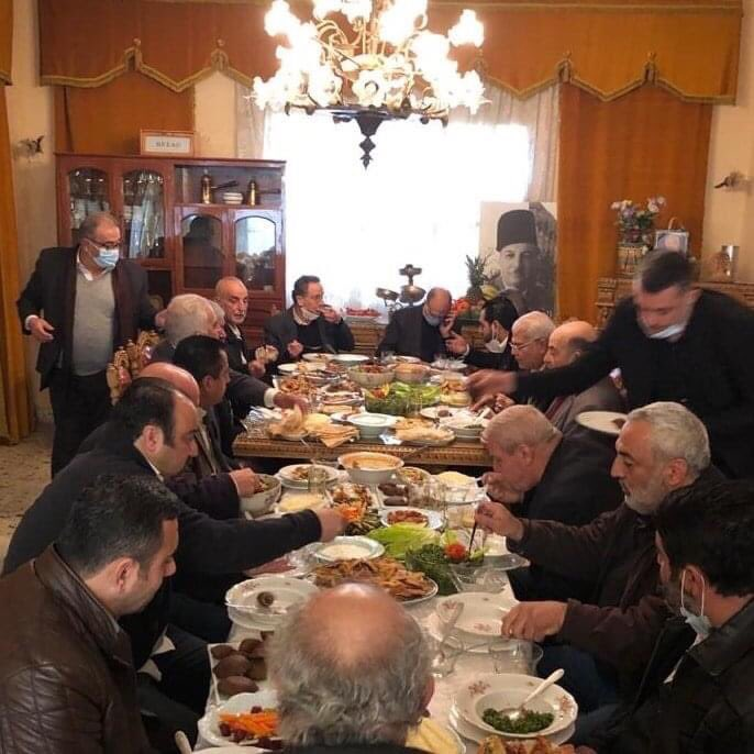 On January 6, Lebanese media reported that Health Minister Hamad Hassan hosted this large lunch, in defiance of his own government's orders to avoid gatherings. Tonight he was hospitalized for covid.