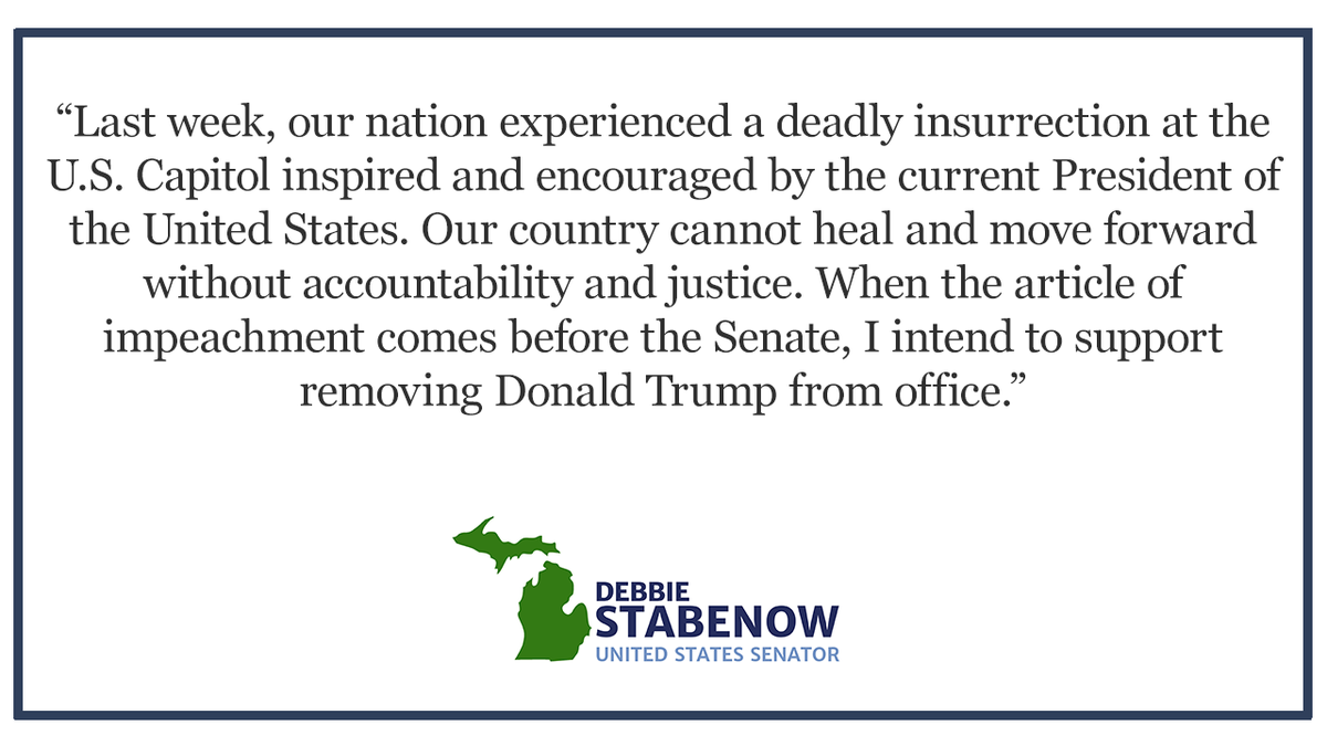 My statement following the U.S. House of Representatives vote to impeach President Donald Trump: