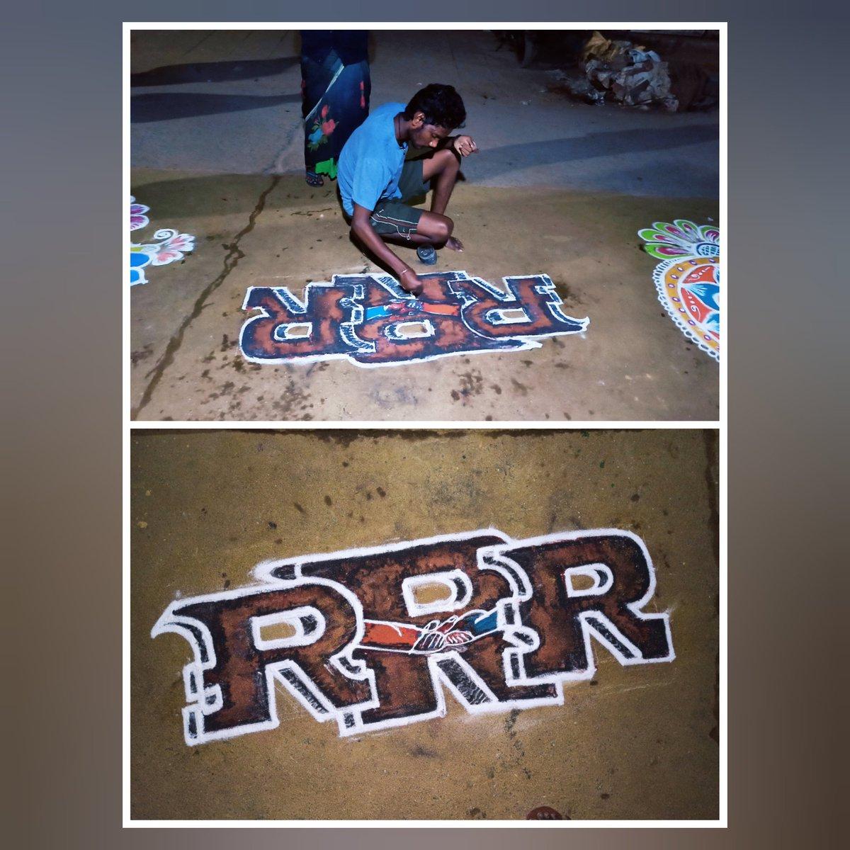 Replying to @urstrulyBaalu: MY Special RANGOLI For SANKRANTHI 😍 @RRRMovie 🌊🔥