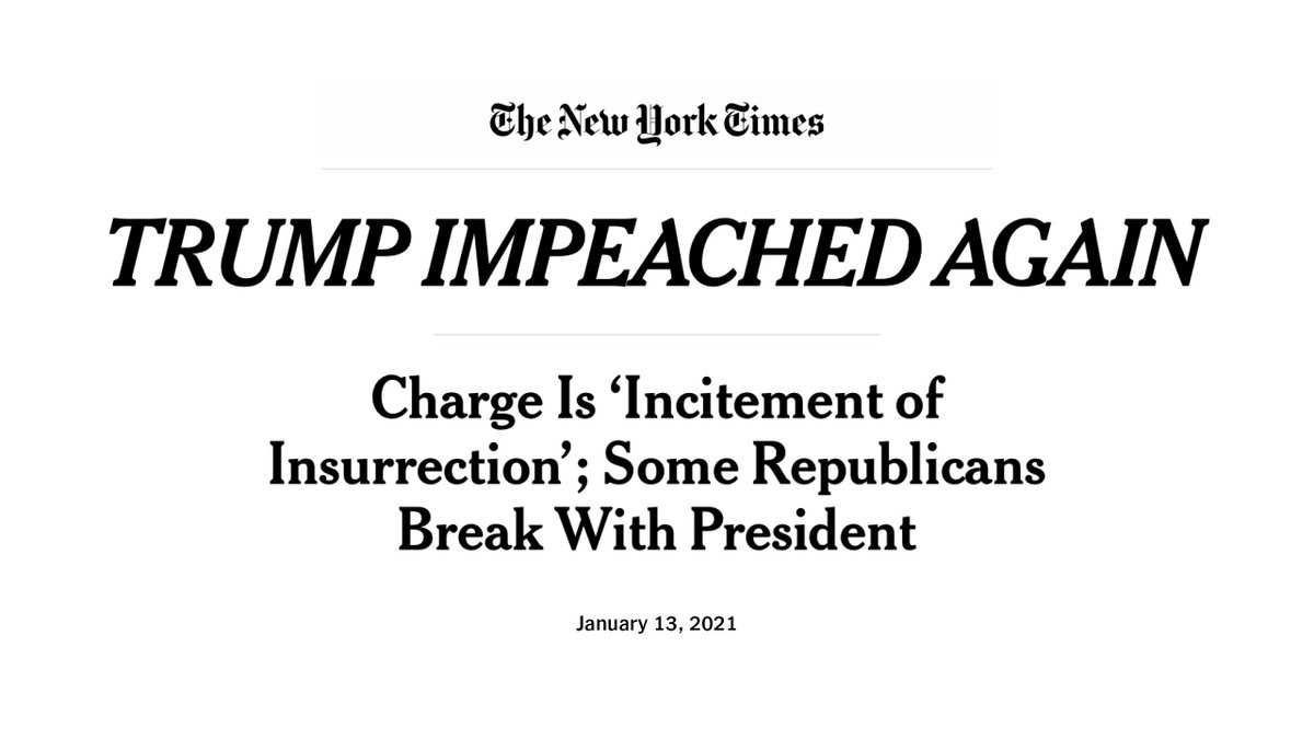 The home page of The New York Times at 5 p.m. Eastern on Jan. 13, 2021.