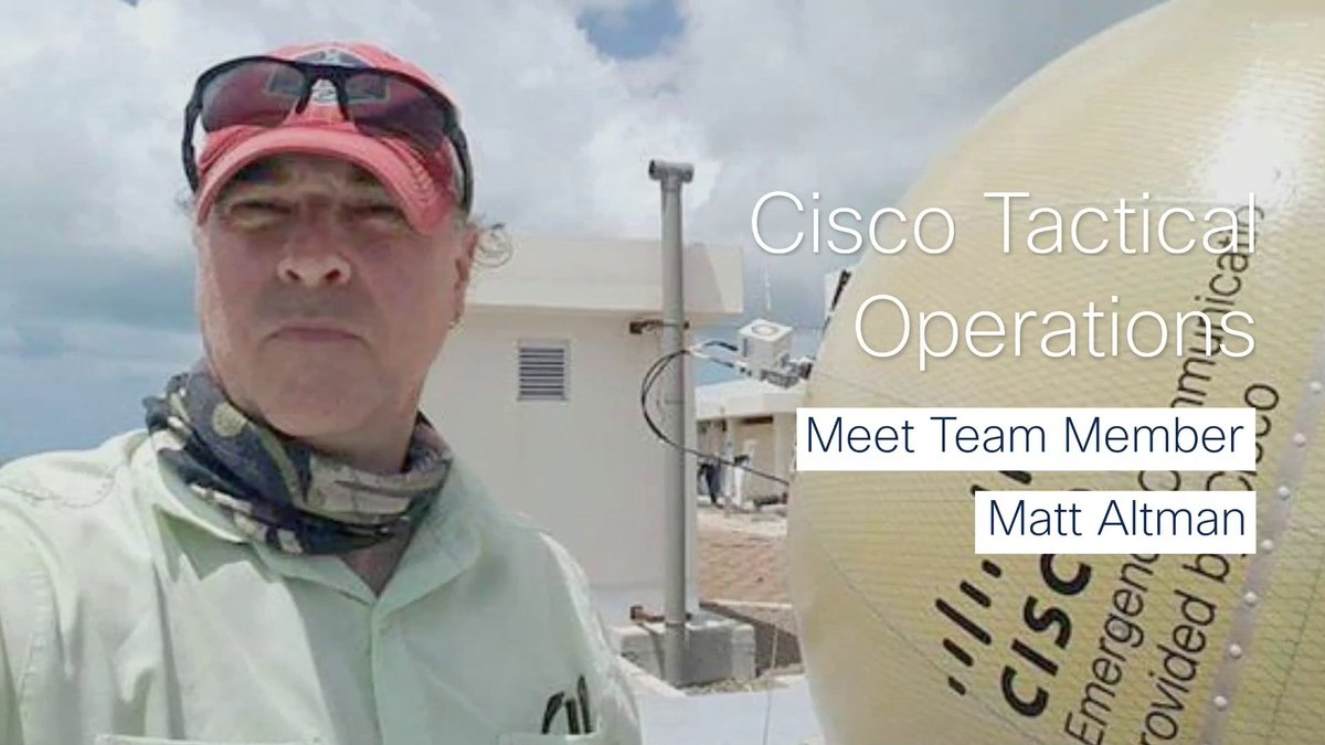⚠️ @CiscoTacOps team member and technical engineer, Matt Altman, has been connecting people in disaster zones for 16 years. Learn more about him and his work.