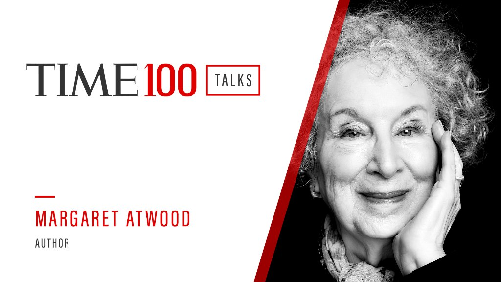 On Friday Jan. 15, @MargaretAtwood joins us as a speaker for a live #TIME100Talks at 1:00 PM ET.  Register now: https://t.co/zbKDPZojBq https://t.co/uIZK0Jxe11