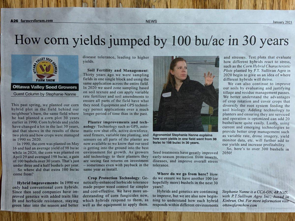How corn yields jumped by 100 bu/ac in 30 years #AgInTheEast #OVSGA https://t.co/HZdI9Ibi3q