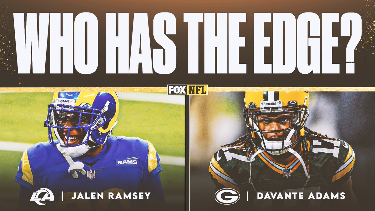 Replying to @NFLonFOX: Who will win this matchup?? 👀  (@jalenramsey x @tae15adams)