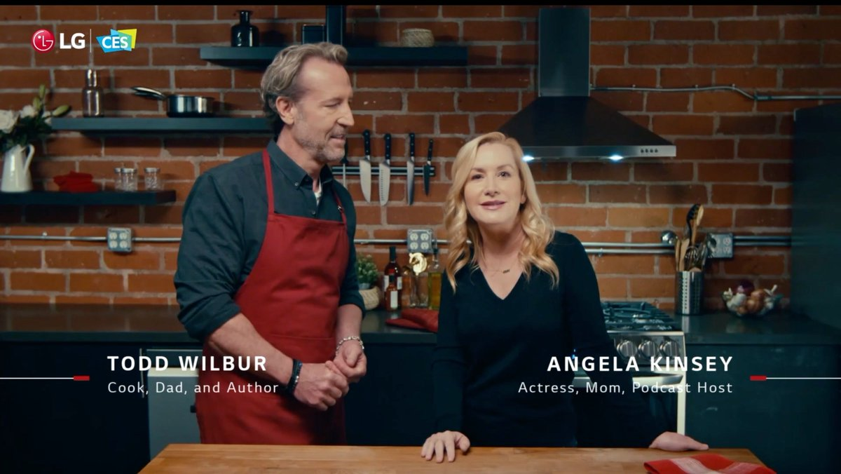 Watch me and @AngelaKinsey re-create restaurant recipes at home with the help of the new @LGUS Insta-View Range with Air Sous Vide, Air Fry, and ProBake Convection. Check out what happens when you knock on the oven door! #lgpartner #LGCES2021 👇
