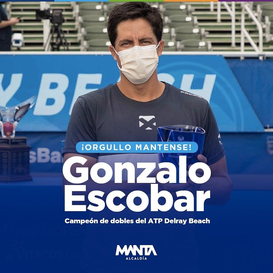 ¡Manta es la cuna de los grandes deportistas!  Muchas gracias por esta alegría @goescobar89  ¡Felicitaciones, ahora eres el campeón de dobles ATP Delray Beach!  #Manta https://t.co/vGvmvg2eP0