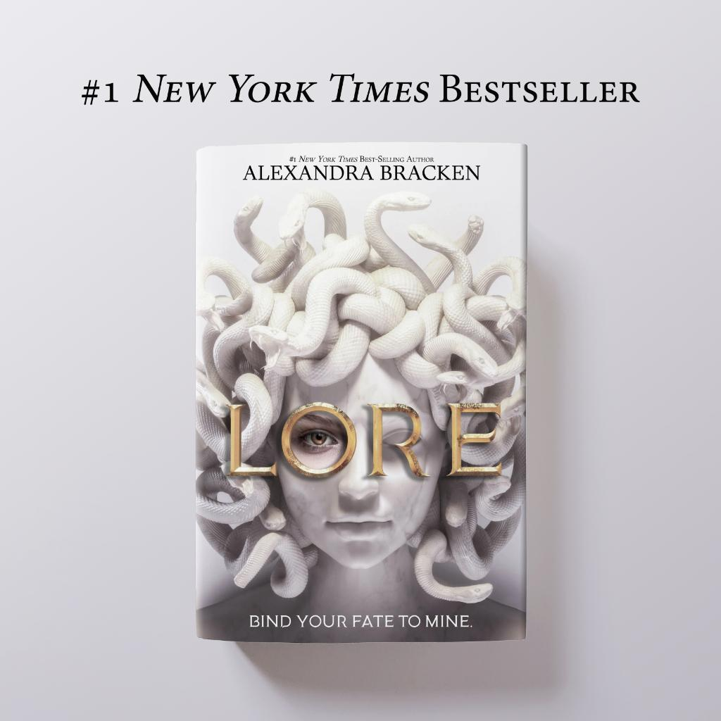 Congratulations to @alexbracken! Lore debuted at #1 on the New York Times Young Adult Bestsellers List!
