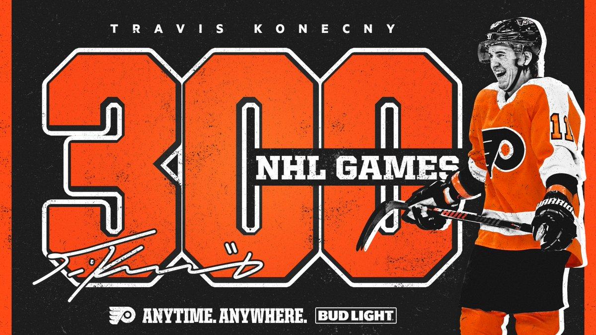 Replying to @NHLFlyers: 3️⃣0️⃣0️⃣ for TK.   @Budlight | #BudLightCelly