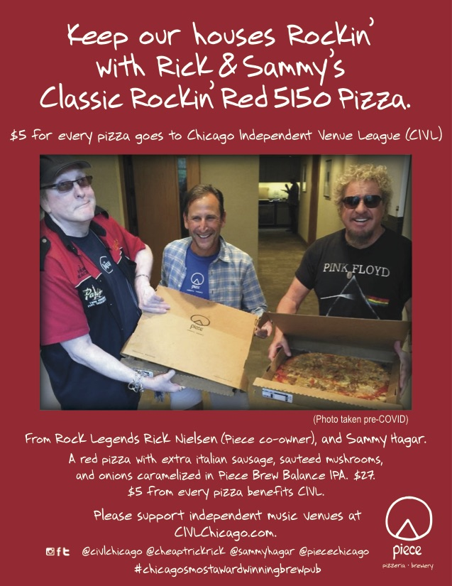 When Rick Nielsen asked me to do this, obviously I didn't have to think about it. All we had to do was come up with a name: Rick and Sammy's Red Hot 5150 pizza!   p.s. @piecechicago, for me, is one of the best pizzas in America.   Find out more at