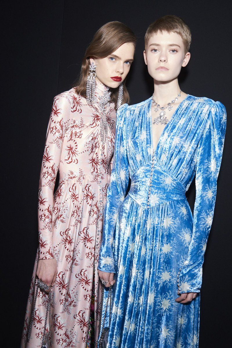 still thinking about that sky blue velvet dress from paco rabanne fw19